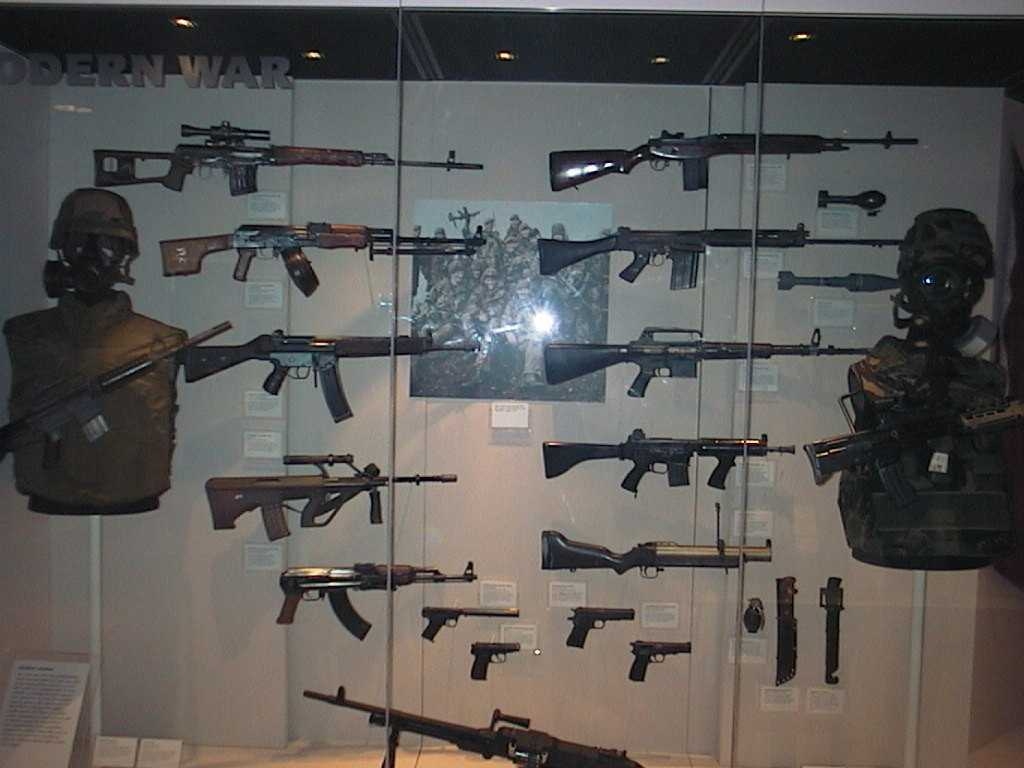 Modern military weapons aselection of cast offs from the pattern